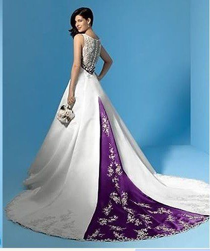 Alfred Angelo 1187 IvoryMocha Size 5 Wedding Dress Purple