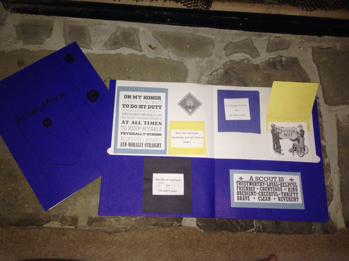 I Made A Cub Scouts Bobcat Trail Lap Book For Our Newest