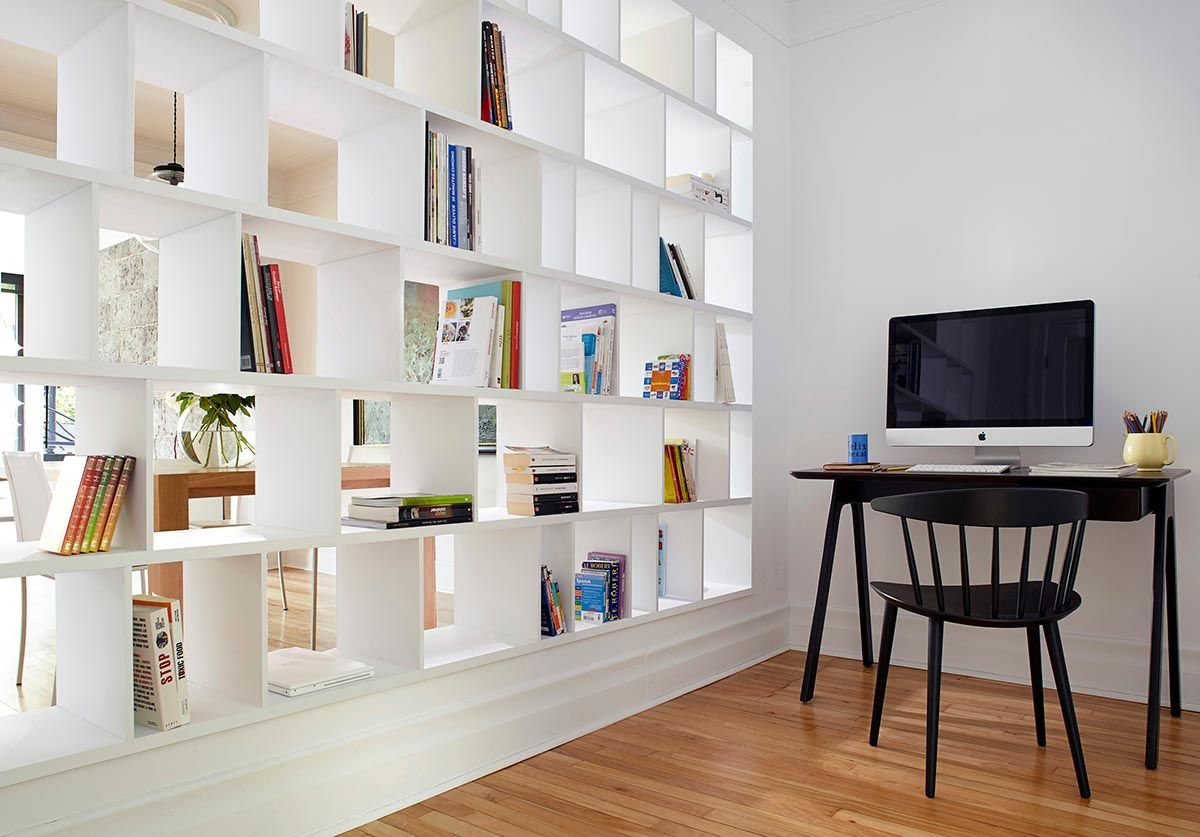 L 39 originalit de la biblioth que cloisons semi ouvertes for Bibliotheque decoration de maison