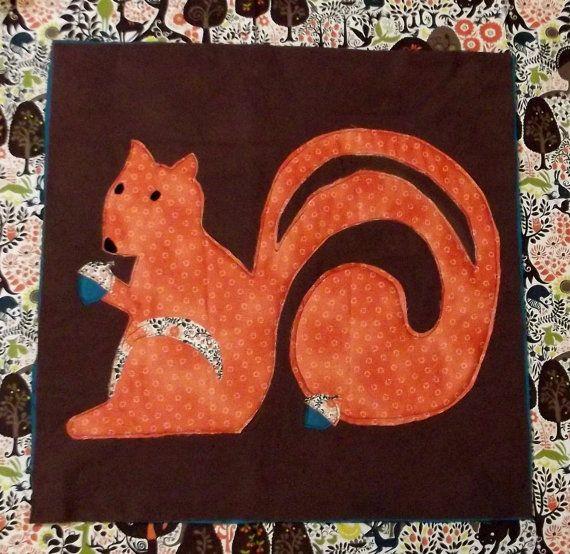 Woodland Animal Quilt Block Pattern Quot Squirrel Quot Animal