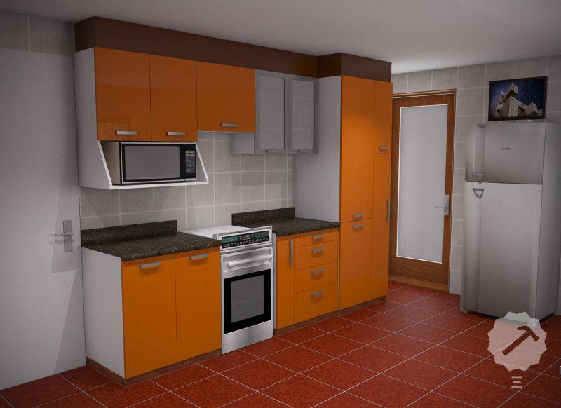 Mueble cocina alto y bajo con estructura interior en for Muebles bajos de cocina