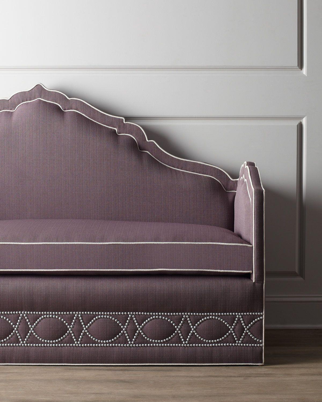 haute house napa banquette horchow detail pinterest. Black Bedroom Furniture Sets. Home Design Ideas
