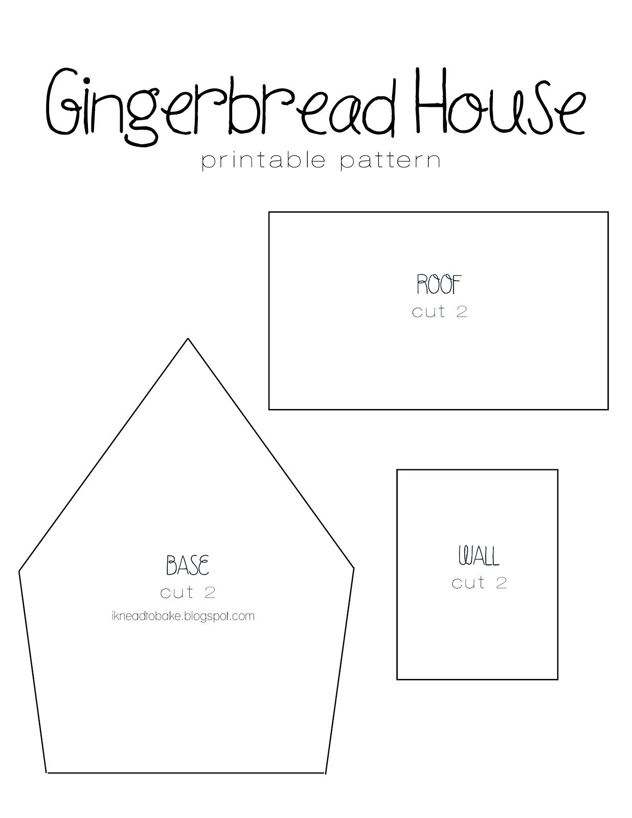 gingerbread house template to colour  i knead to bake: Gingerbread Recipe & Printable House ...