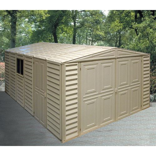 10 5 Ft W X 15 5 Ft D Plastic Garage Shed Vinyl Storage Sheds Garage Shed Shed Storage