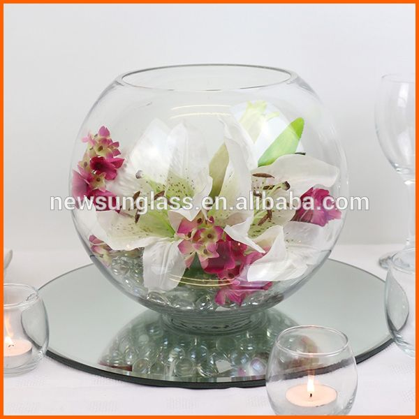 Source Clear Round Fish Bowl Vases On Mibaba Arreglos