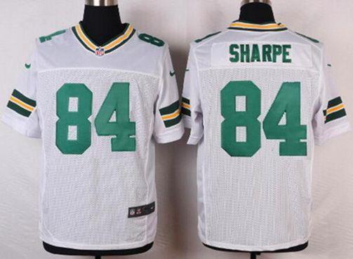 green bay packers 84 sterling sharpe white retired player nfl nike elite mensu2026