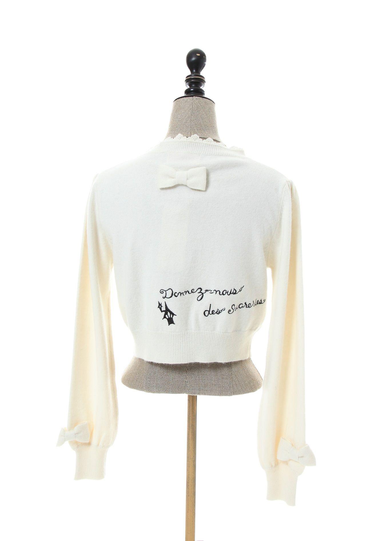 axes femme online shop|アンゴラ混刺繍入カーディガン