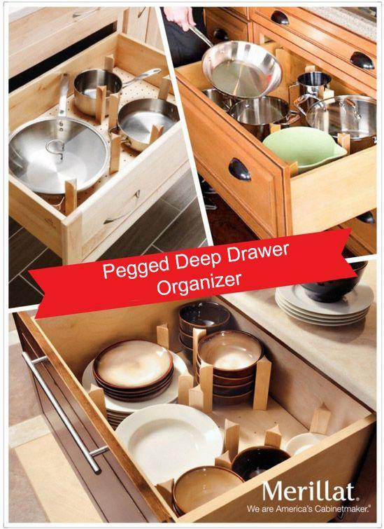 Merillat Masterpiece Pegged Drawer Organizer