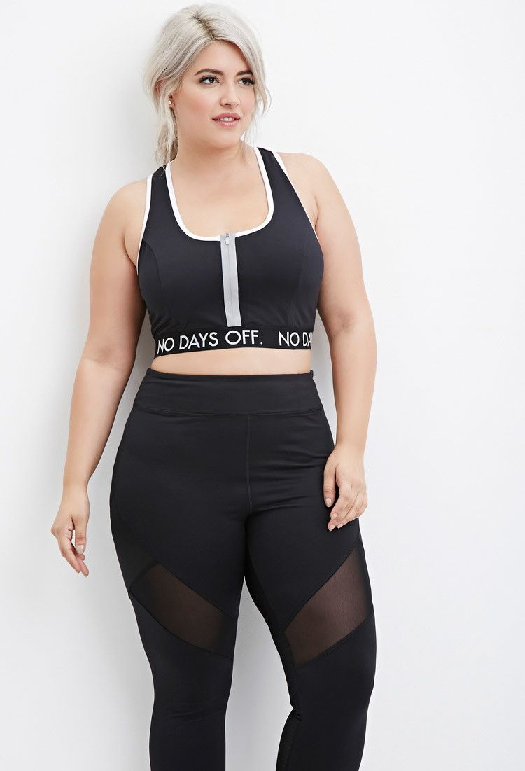 Plus Size No Days Off Sports Bra Forever 21 PLUS
