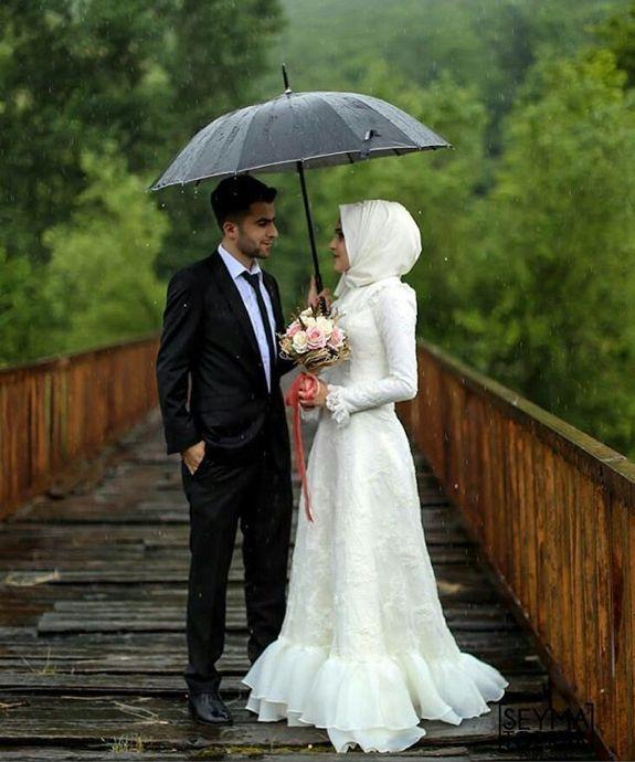 Dress Wed Prewed Wedding Bride Hijabi Hijab Dresses S