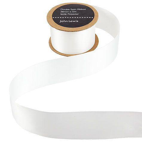 Buy John Lewis Bridal Ribbon, White Online at johnlewis.com