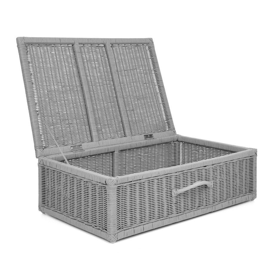 Grey Rattan Underbed Storage Box Storage Box On Wheels Home Furnishings Under Bed Storage