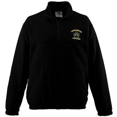 Augusta Sportswear Men's Elastic Cuff Half Zip Chill Fleece Pullover. 3530 Description   100% polyester Chill Fleece, Pill-free, Ultra-soft, Half-zip pullover style, Set-in sleeves, Front pockets, Elastic cuff.