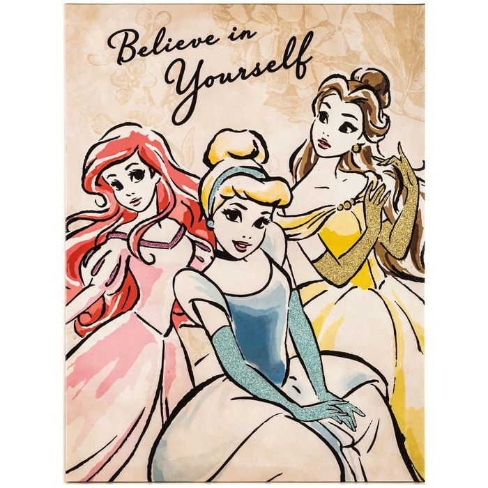 Believe In Yourself Disney Princess Canvas Wall Art
