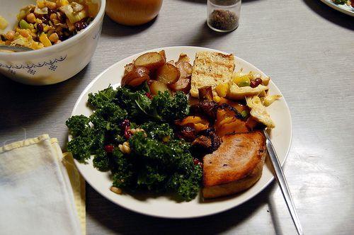 raw kale salad via @SparkPeople