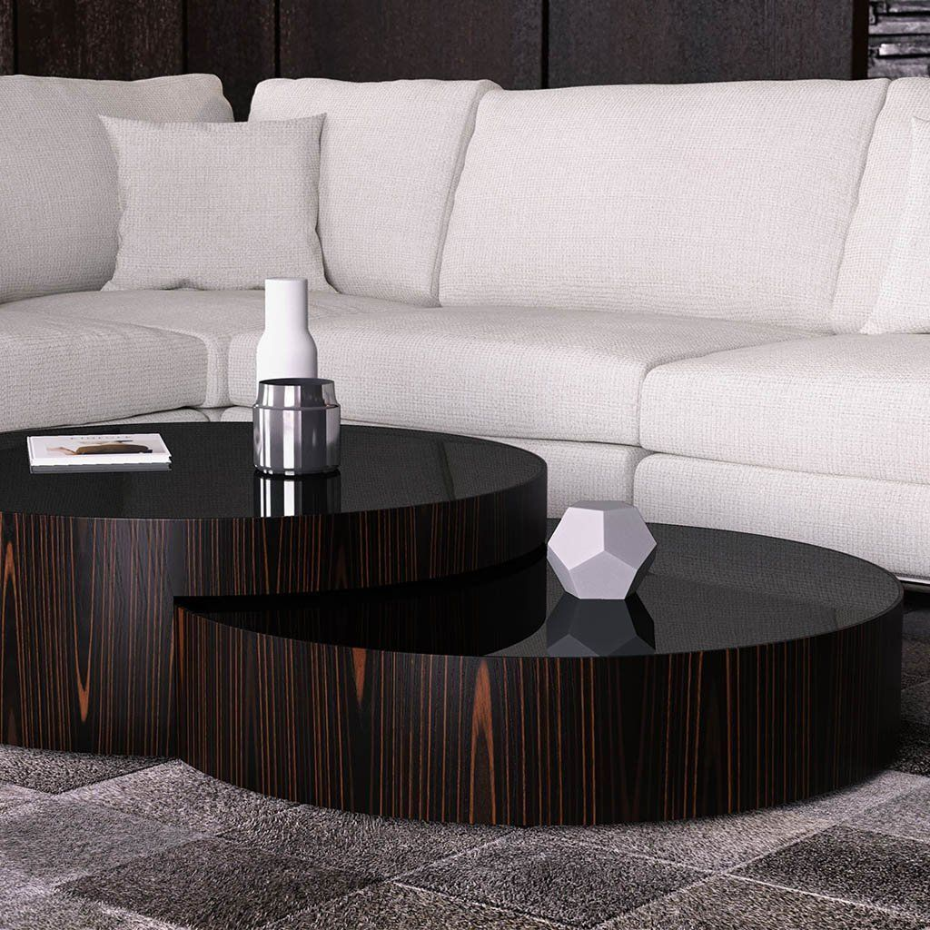 Berkeley Nested Coffee Tables Black Glass On Cathedral Ebony Contemporary Home Furniture Round Glass Coffee Table Glass Coffee Table Decor [ 1024 x 1024 Pixel ]