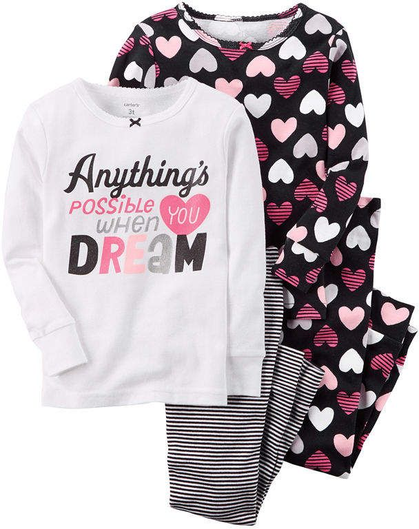 a53d8d04a9 Carter s Baby Girls  4 Piece PJ Set (Baby)   Trust me
