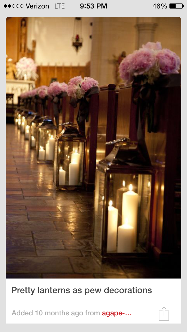 Pin by carrie on decorations pinterest wedding indoor ceremony glass lanterns and flower bouquets aisle decor for church or glass lanterns on reception tables junglespirit Images