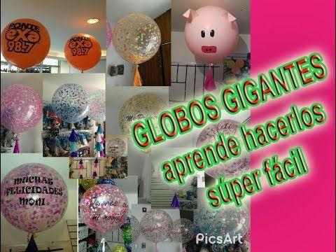 Globos Gigantes Decorados - YouTube Decoración globos Pinterest - imagenes de decoracion con globos