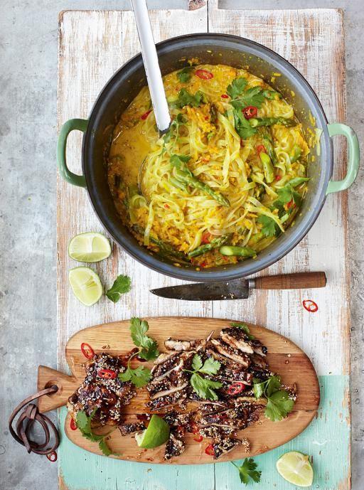 Thai Chicken Laksa Recipe Jamie Oliver Pinterest Suppen