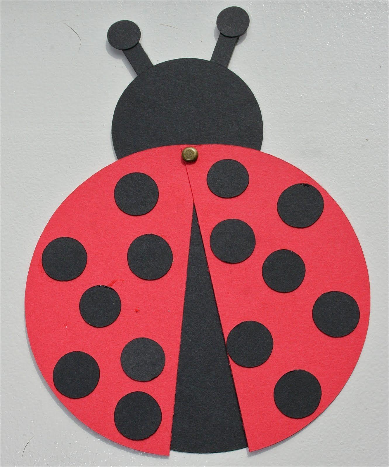 Cricut Crazy: Lady Bug Birthday Invitations and birthday cards ...