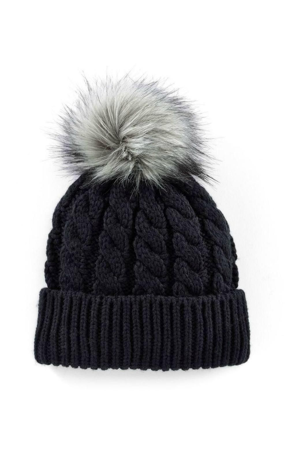 ad30f72495246 Black Fleece Lined Pom Pom Hat. One Size Fits Most. All Man Made Materials.  Fleece Line Hat by 6th Borough Boutique. Accessories - Hats New Jersey