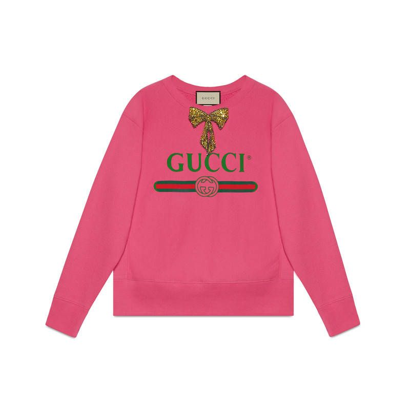 2cd27baa91d2 GUCCI GUCCI LOGO SWEATSHIRT WITH BOW.  gucci  cloth