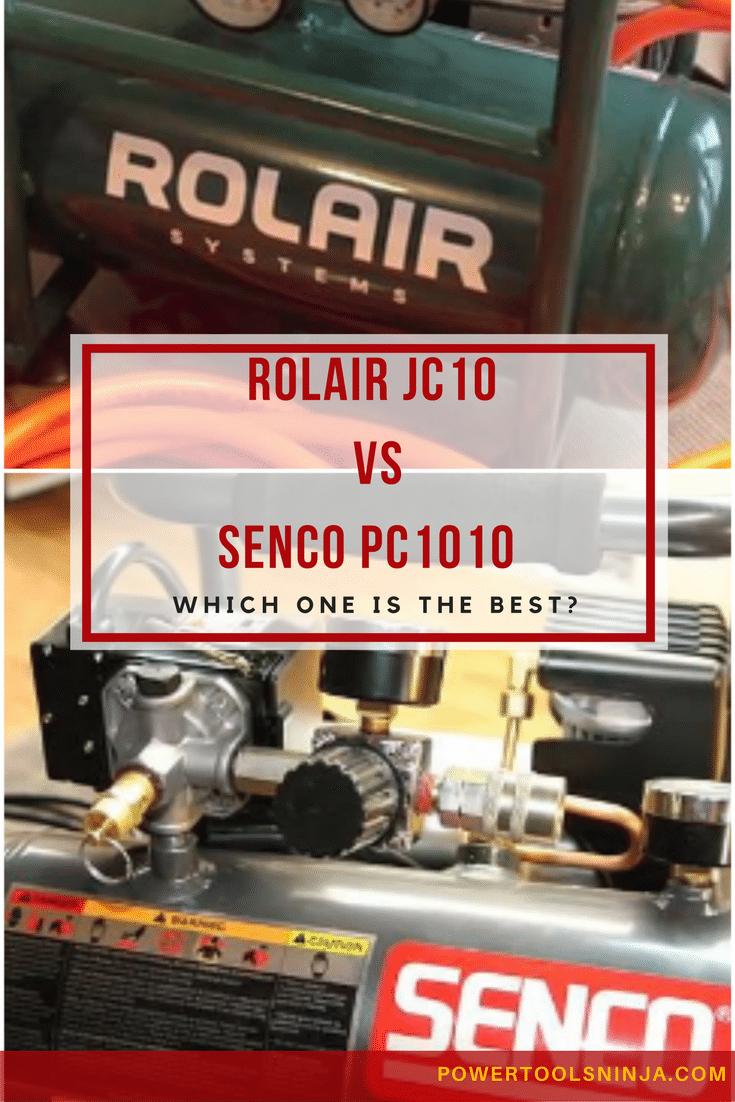 Air Compressor Showdown Senco PC1010 vs Rolair JC10 Air