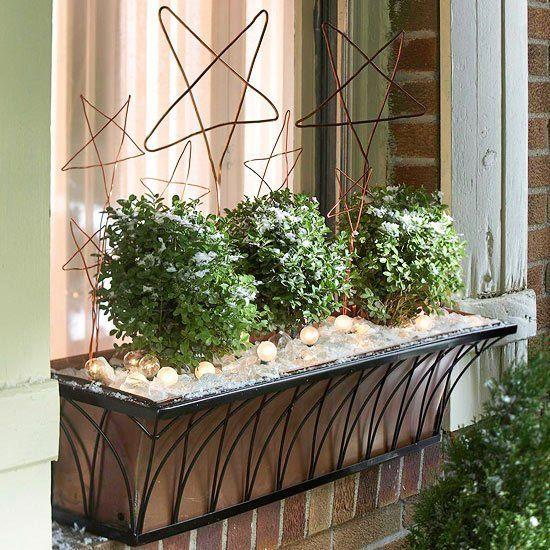 d coration de no l pour espace ext rieur 21 id es sympas un jardin ma fen tre pinterest. Black Bedroom Furniture Sets. Home Design Ideas