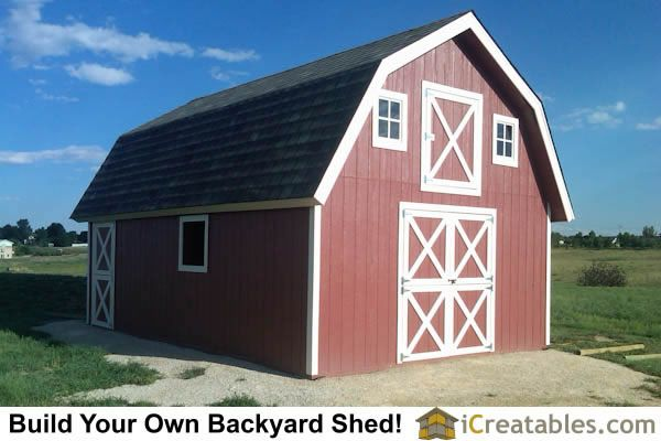 16x24 Gambrel Shed Plans 12x16 Barn Shed Plans Shed Plans 12x16 Small Barn Plans Shed Plans