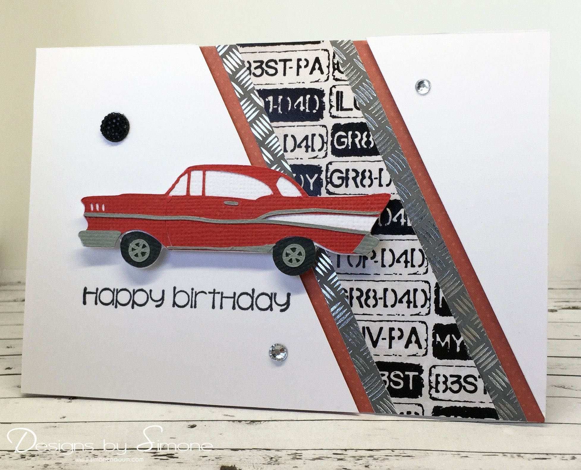 Classic car birthday card scrapbook cards masculine classic car birthday card bookmarktalkfo Image collections
