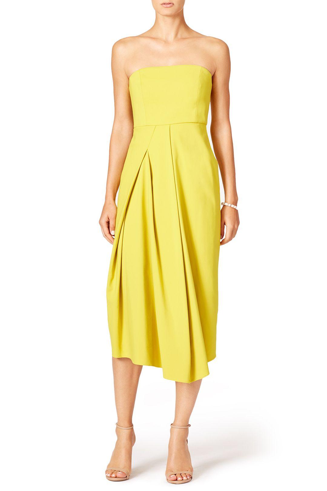 Tibi Yellow Midi Dress Yellow Midi Dress Dresses Midi Dress [ 1620 x 1080 Pixel ]