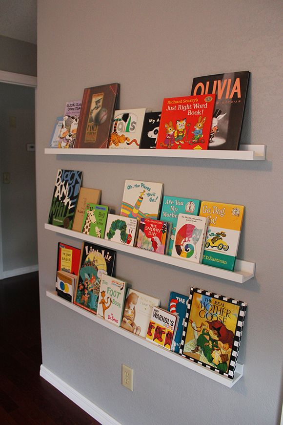 Bean S Nursery Finally Finished Wall Shelves From Ikea Books
