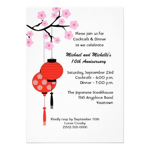 Japanese Themed Anniversary Invitation Shops, Great deals and - anniversary invitation template