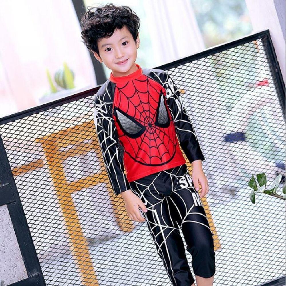 2017 New Boys Swimwear Two Pieces Long Sleeve Spider Man Pattern Kids  Children Swimsuit Clothing+Pants Bathing Suit Beach Wear | Kid swim suits,  Childrens swimwear, Kids swimwear