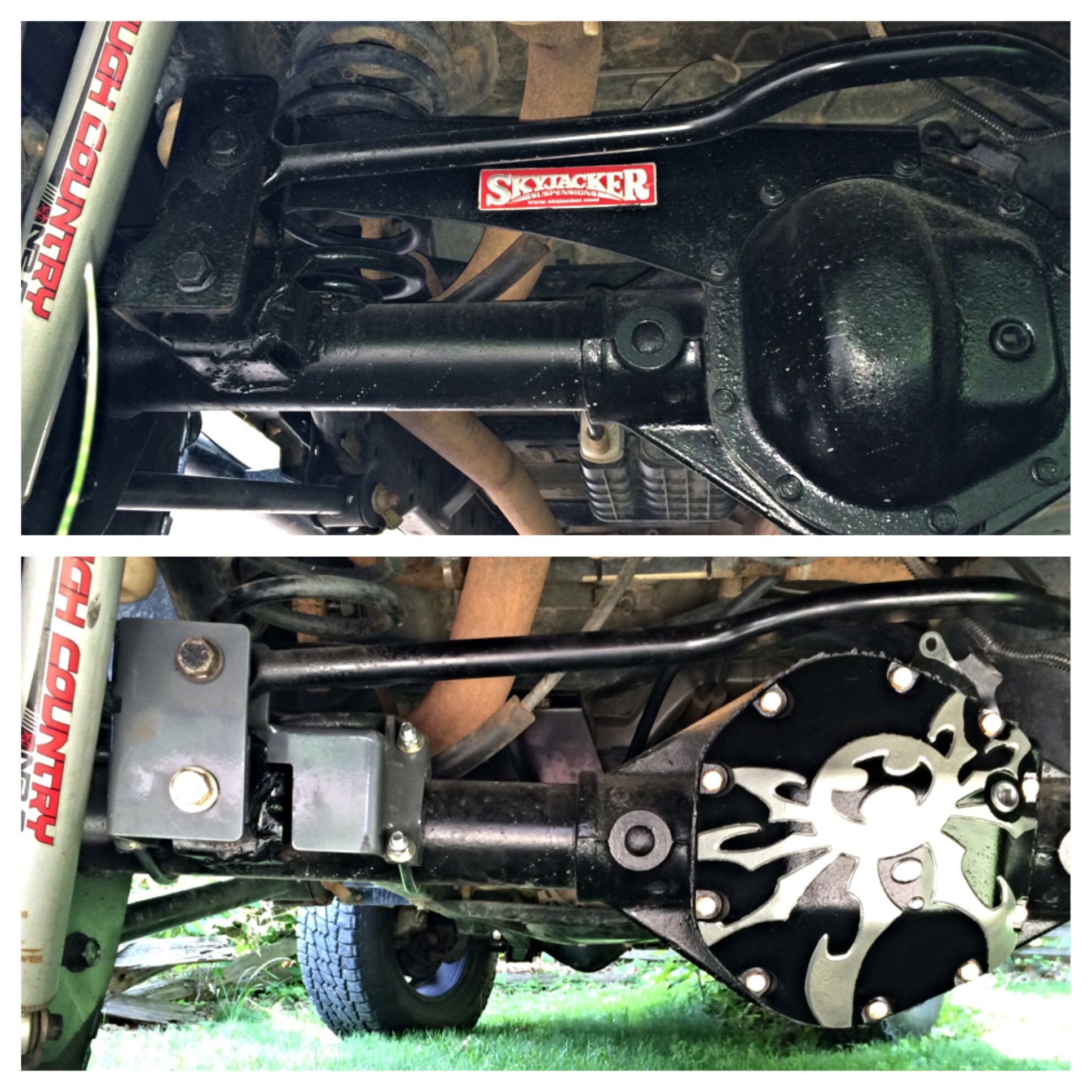 June 2014 Replaced Some Of The Old Skyjacker Parts With The New Synergy Track Bar Bracket And Then In 2008 Jeep Wrangler Outdoor Power Equipment Jeep Wrangler