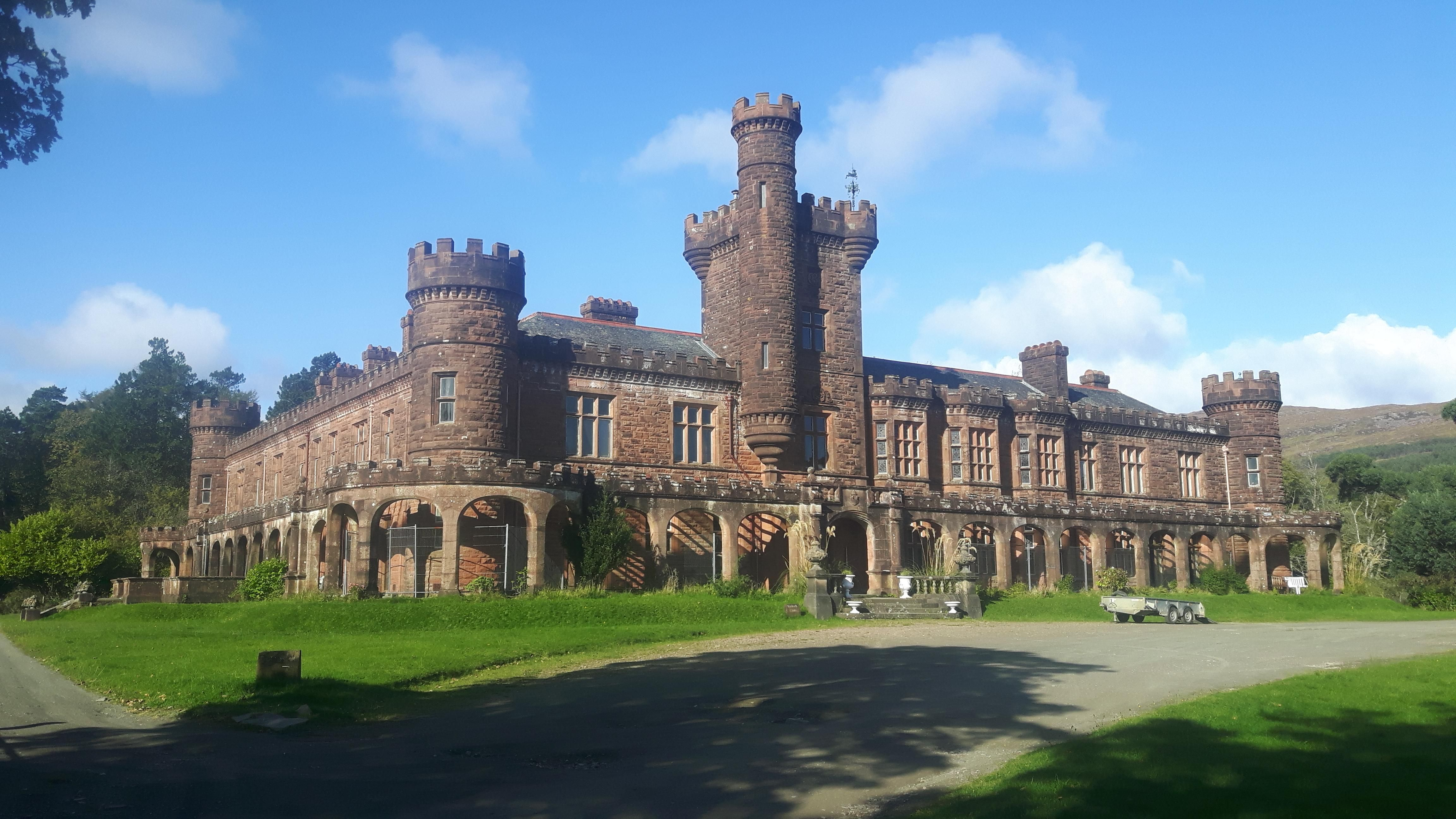 Kinloch castle Isle of Rum Scotland. Built 120 years ago