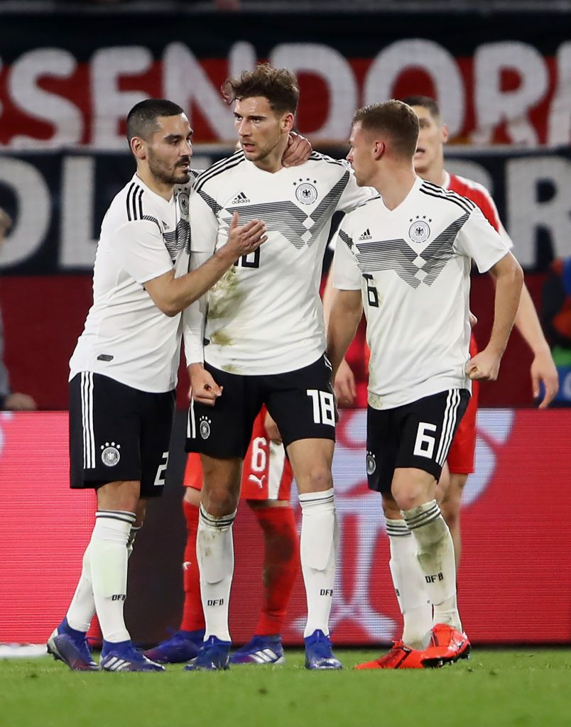 Leon Goretzka of Germany celebrates with team mates Joshua Kimmich of... |  Celebrities, Teams, Joshua