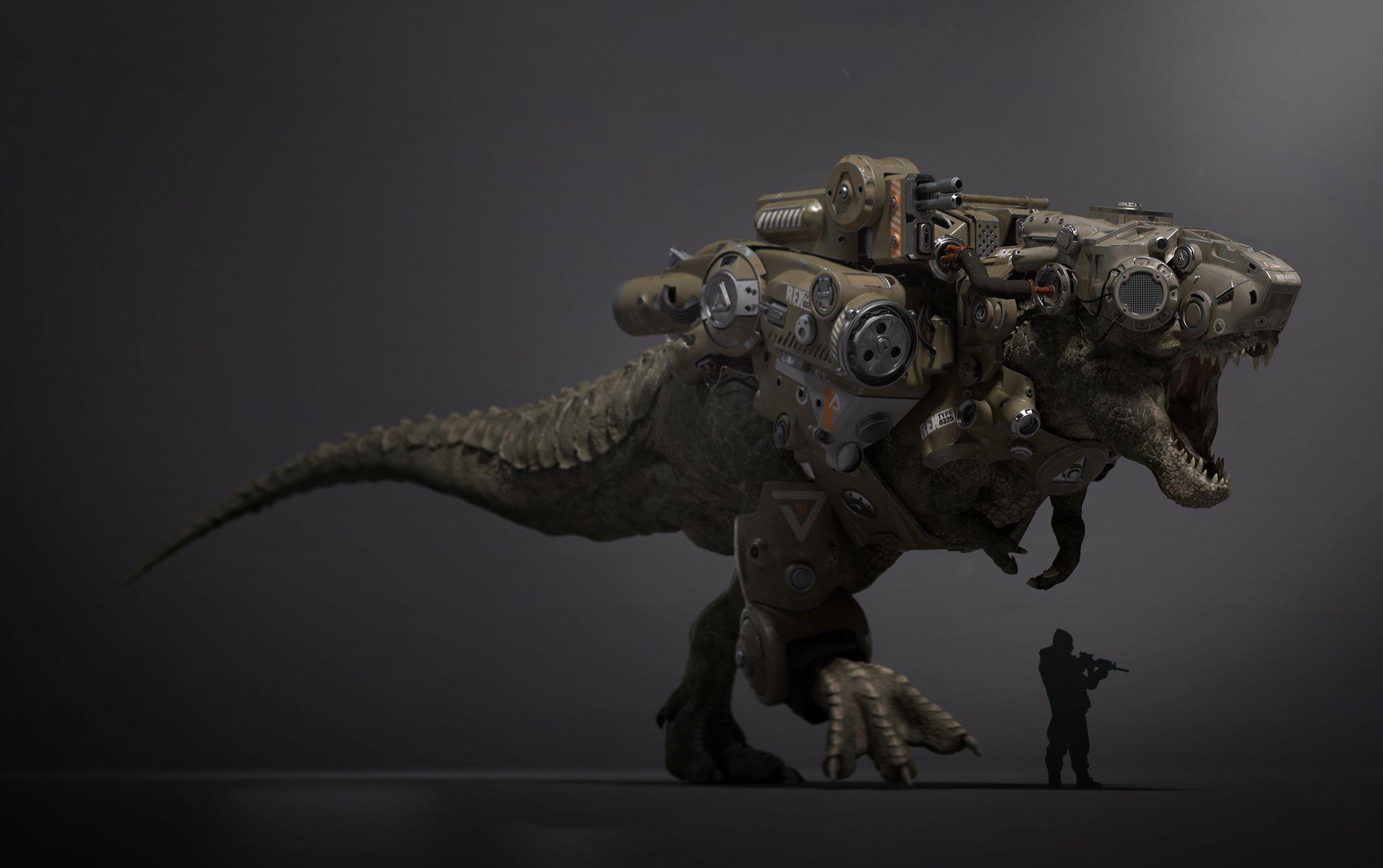 Warrior Rex By Pieman194 Fantasy 3d Cgsociety Robot Animal