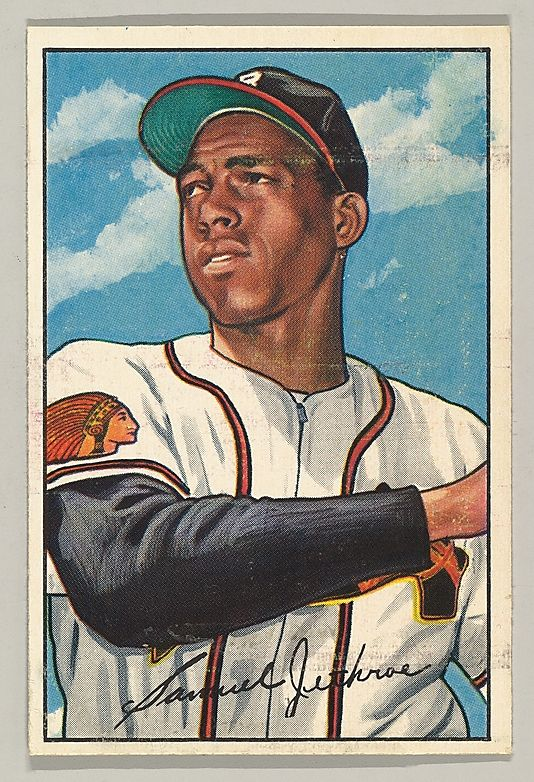 1952 Bowman 84 Sam Jethroe Boston Braves Baseball Card