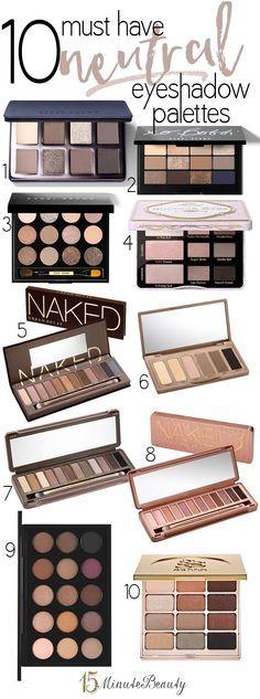 Good Drugstore Eyeshadow Palettes: Top 10 Tuesday: My Favorite Neutral Eye Shadow Palettes