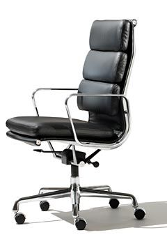 Eames Soft Pad Aluminum Group One Day Maybe For My Desk Modern Office Chair Office Chair Design Padded Lounge Chair