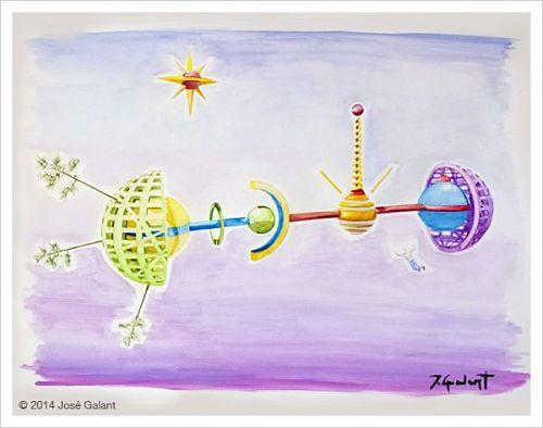 ARTWORK DETAILS   Title: Geometric abstraction 05   Date:  2014   Medium: Watercolor on paper   Dimensions: 76 x 56 cm   http://jgalant.com/paper