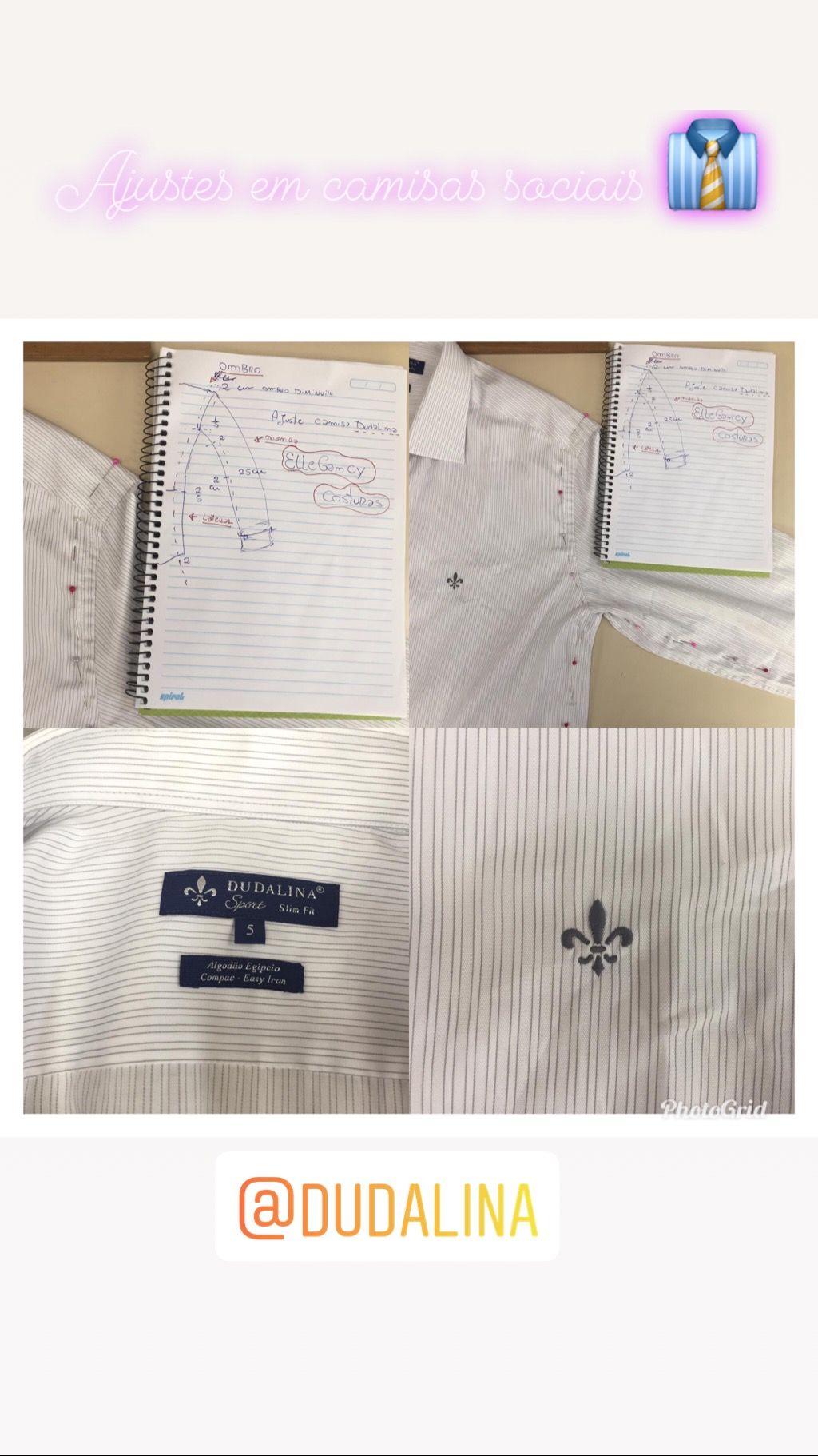 2bc9b428e1 Ajustes em camisas sociais de Alfaiataria