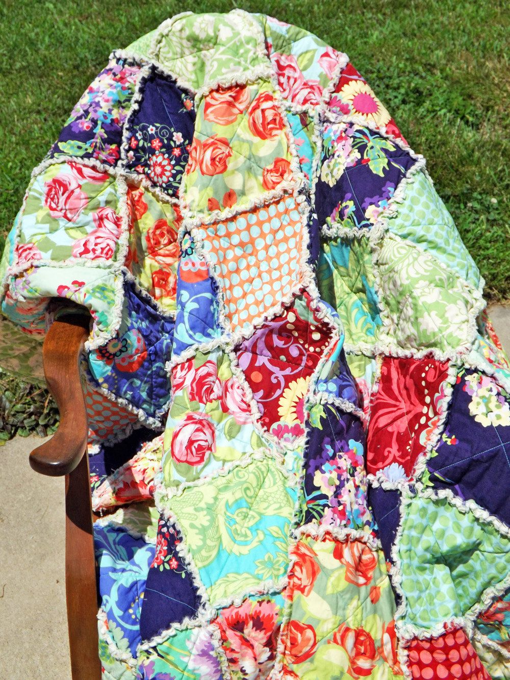 Rag Quilt Full Size Quilt Pick Your Fabrics Cozy