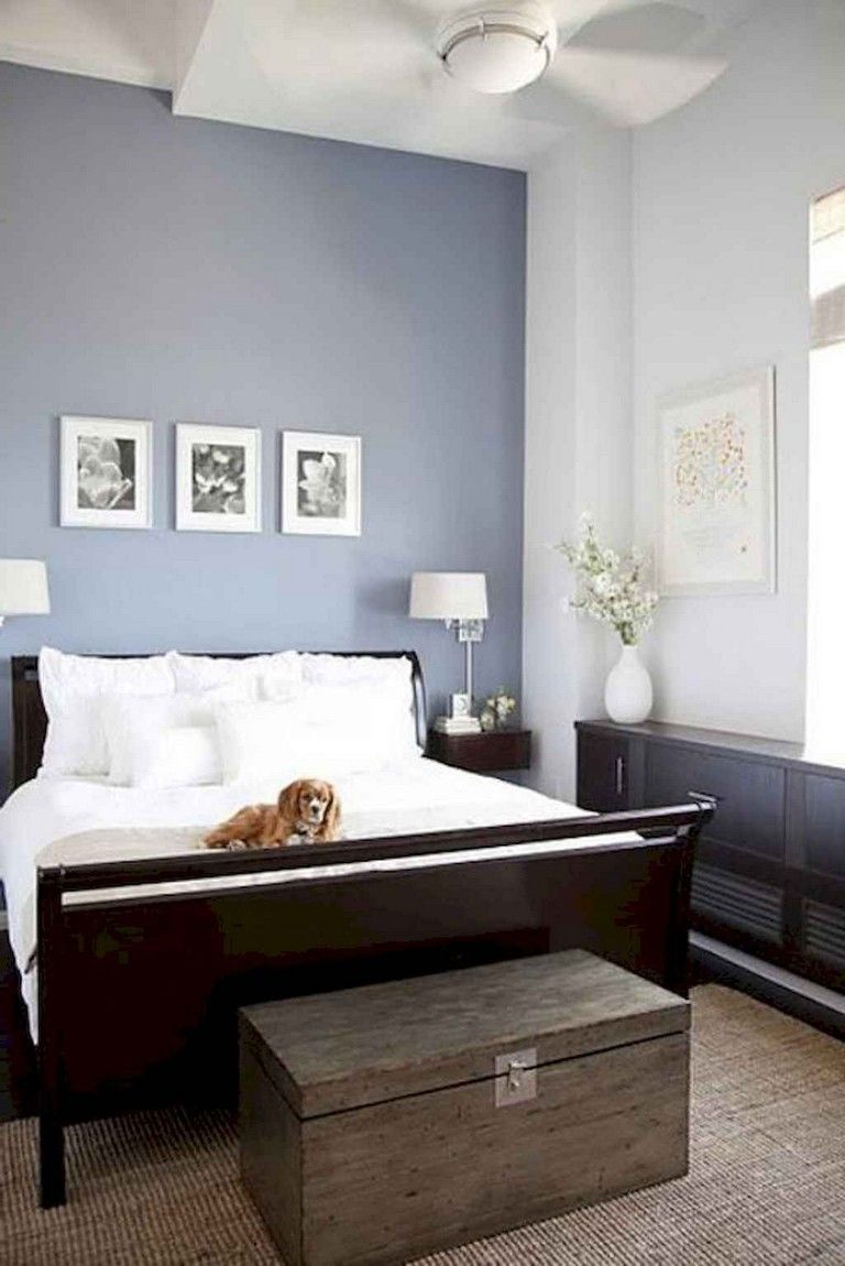 Accent Wall Painted Naval By Sherwin Williams Master Bedroom Paint Bedroom Sets For Sale Accent Wall Bedroom