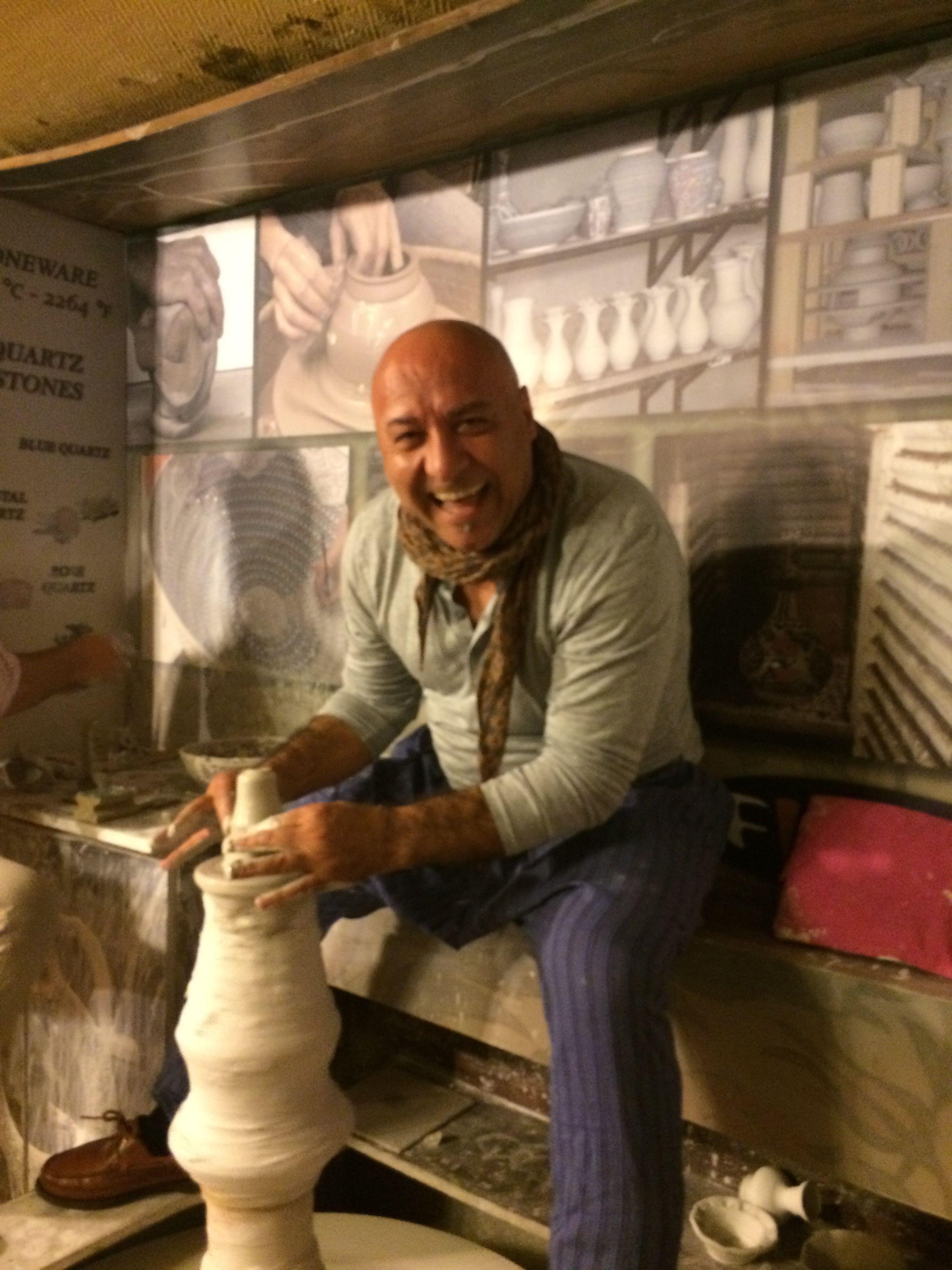 Trying my hand at ceramics! http://www.altiramisu.com/about-the-chef/ www.amyriolo.com #twochefsculinarycruise
