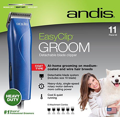 Andis Easy Clip Groom Clipper Kit For Dogs Dog Grooming Dog Clippers Pet Grooming
