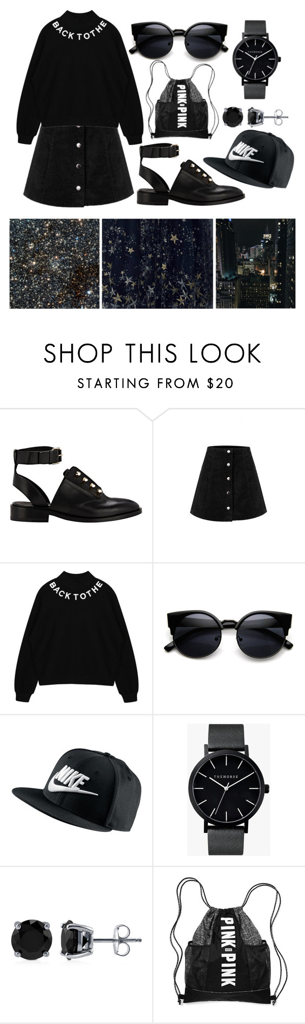 """""""Star - BLACK"""" by sialiaaa ❤ liked on Polyvore featuring Balenciaga, NIKE, The Horse, BERRICLE, women's clothing, women, female, woman, misses and juniors"""