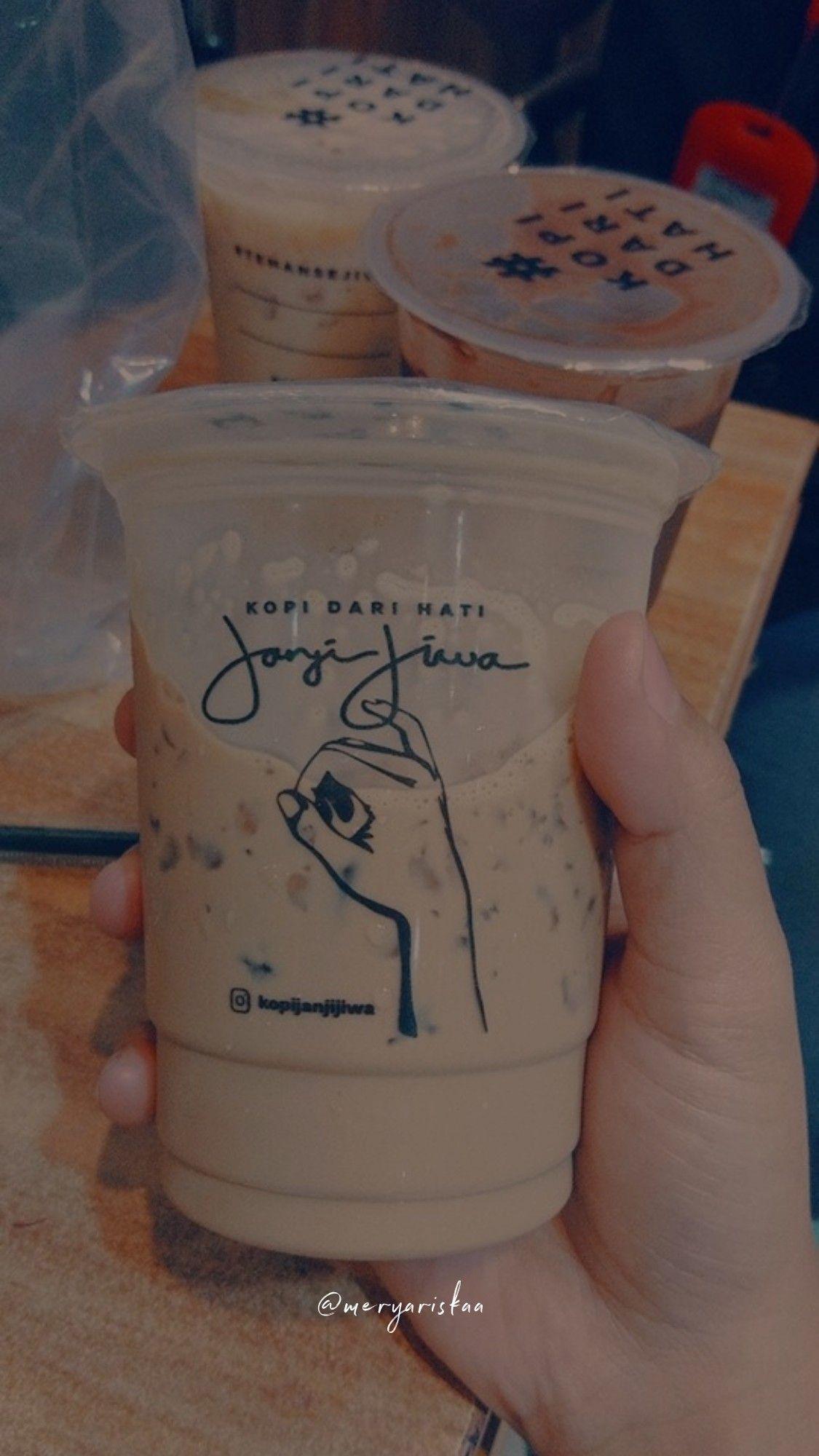 Janji Jiwa Coffe Dengan Gambar Kopi Kopi Es Makanan